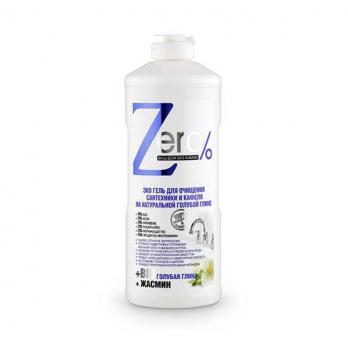 Zero Гель для очищения сантехники и кафеля на голубой глине 500мл